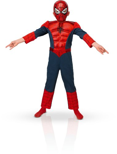 Rubie's 3886923 - Kostüm für Kinder - Ultimate Spiderman Deluxe Metallic, ()