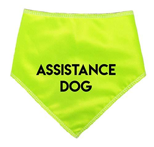 Spoilt Rotten Pets (S2 'ASSISTENZHUND' Hi Viz Reflektierende-Alert Nachricht Achtung Hund Bandana (Größe 2Small/Medium Dog-passt 27,9cm-40,6cm Hals, Hilfe Hund)