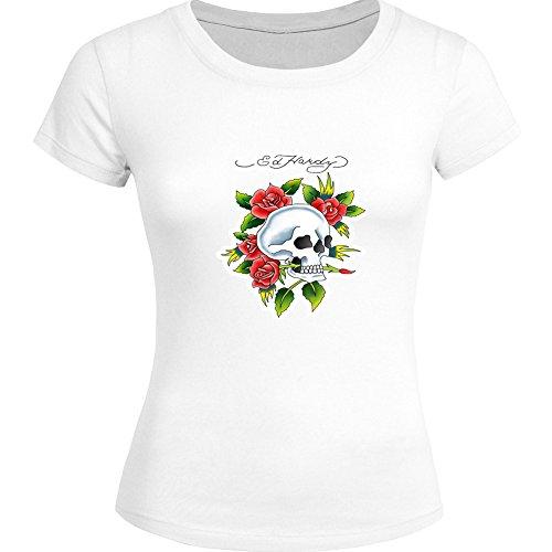 Fashion Ed Hardy Tops T shirts -  T-shirt - Donna White Medium