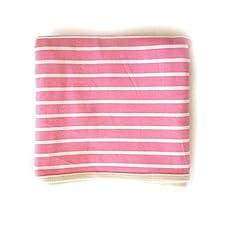 Strick-Wickeldecke, weich, zweischichtig, aus reiner Baumwolle mit Streifen, für Kinderwagen / Kinderzimmer, 80x 80cm