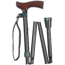 Classic Canes Canne de marche pliante et réglable, noir, 31–88,9cm Taille
