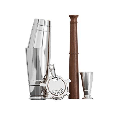 crafthouse por Fortessa Professional Barware/Bar herramientas por Charles Joly, coctelera Boston Set de regalo, plata