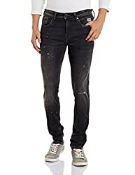 Jack & Jones Mens Slim Fit Jeans (5713610784585_12125877Black_32W x 32L)