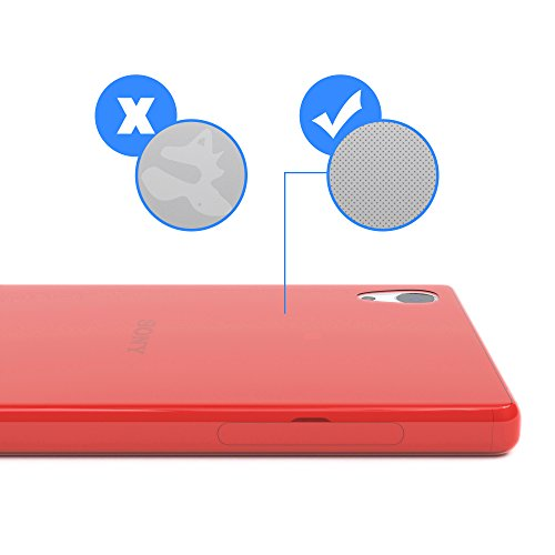 """EAZY CASE Handyhülle für Sony Xperia Z5 Hülle - Premium Handy Schutzhülle Slimcover """"Brushed"""" Aluminium Design - TPU Silikon Backcover in brushed Rosa Clear Rot"""