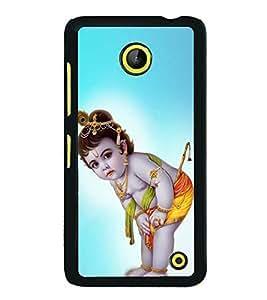 FUSON Lod Little Kishna Designer Back Case Cover for Microsoft Lumia 630