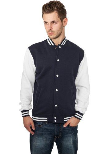 Urban Classics Urban Classics 2 Tone College Jacke + 2store Bandana - teddy - Homme Multicolore (Navy/White)