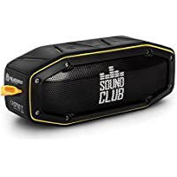 'GoClever Sound Club Rugged Mini Robust Bluetooth Stereo Speaker, Waterproof, Dust Proof, 2x 5 W – Black/Yellow - Compare prices and find best deal online