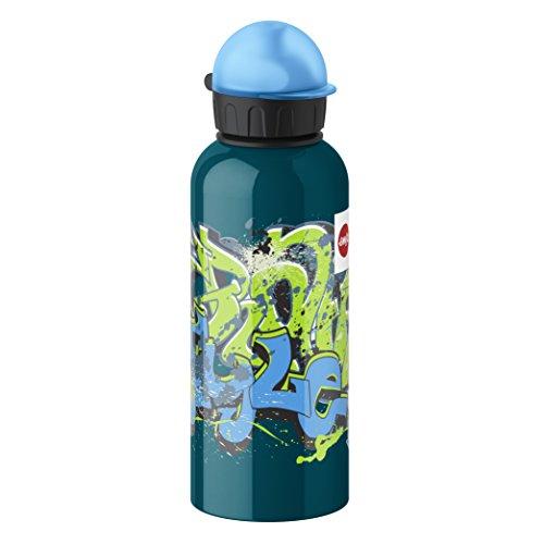 Emsa 514405 Kinder-Trinkflasche, 600 ml, Sicherheits-Verschluss, 100{49e534583d07a8b43102ae6911c272a36c3c7b36ea3bee2513239a50d85faf44} dicht, Teens Graffiti