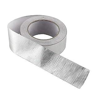 Papel de aluminio universal industrial de 25 m con aislamiento de tubo de escape de automóvil cinta de aluminio de alta temperatura