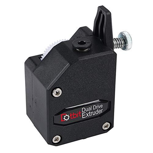 BMG Bowden Extruder extrusor de aluminio mejorado – extrusor BMG Dual Drive para impresoras de impresión 3D, color negro free size