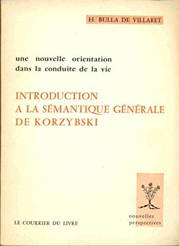 Introduction à la sémantique générale de Korzybski