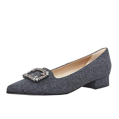 dirndl + bua Damen Dirndl-Schuhe Ballerinas Sabine in Grau Trachten-Schuhe, Schuhgröße:38 1/2, Farbe:Grau