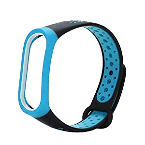 Lightweight Ventilate Silicone Wrist Strap Wristband Bracelet For Xiaomi Mi Band 3 Casual Sports Style Colorful Waterproof Replacement Straps For Xiaomi Mi Band 3 Smart Miband 3