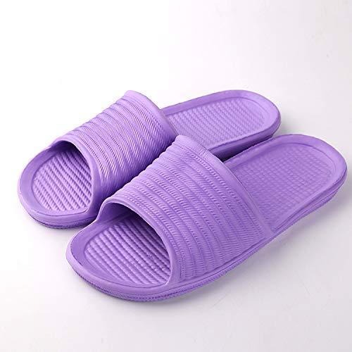 Qsy shoe Innenmänner und -Frauen der Badezimmer-Pantoffel verbinden weiches unteres Ausgangswort, Purpurrot, 42