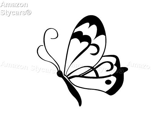 Stycars® Car Stickers, [13Cm*13Cm] 'Silhouette Butterfly Original ool Ce'' Decal Vinyl Car/Window Stickers
