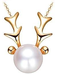 Yoursfs collar de mujer chapado en oro con diseño simple para las chicas novias amigas