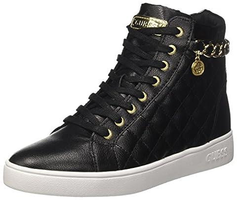 Guess Gerta, Sneakers Hautes Femme, Noir (Nero), 38 EU