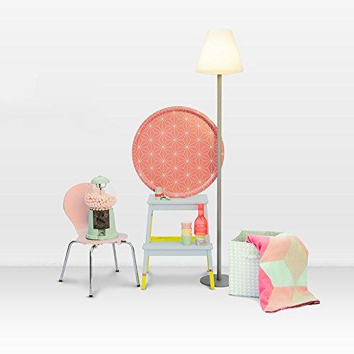 QAZQA Moderne Lampadaire/Lampe de sol/Lampe sur Pied/Luminaire/Lumiere/Éclairage Virginia pour extérieur Plastique/Acier inoxydable Blanc,Gris Rond/Oblongue E27 Max. 1 x 40 Watt/Jardin