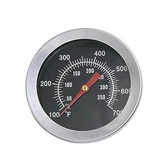 Bar.b.q.s 01T03 Barbecue BBQ 52mm Grill Four Thermomètre Thermomètre de fumée Thermomètre Nouveau BBQ Thermomètre