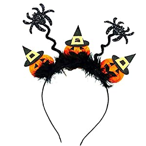 JRXyDfxn Unisex Halloween Haar-Band-Spinnen-Form-Halloween-Stirnband Cosplay Partei-Kugel-Kopfschmuck Teufel Stirnband Für Halloween 02 Typen