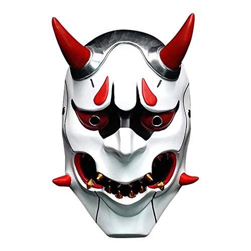 LIULINAN Halloween Horreur Masque Japon Harajuku Japonais Ghost Warrior Ghost Visage Diable Japonais Mauvais Masque Effrayant