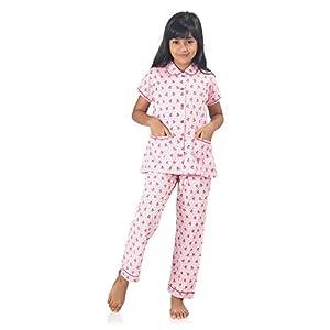 NITE FLITE Girls' Watermelon Print Cotton Nightwear | Top and Pyjama Set