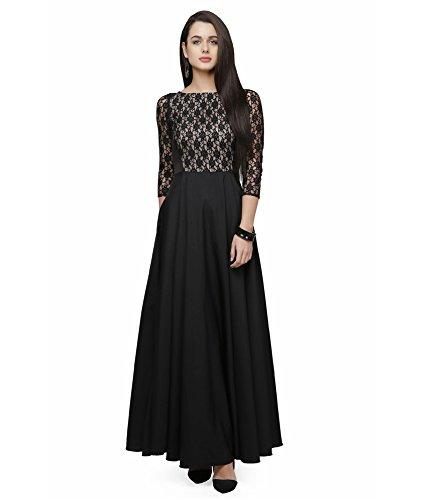 Shivalika Tex Women\'s Black & White Western Gown XL size