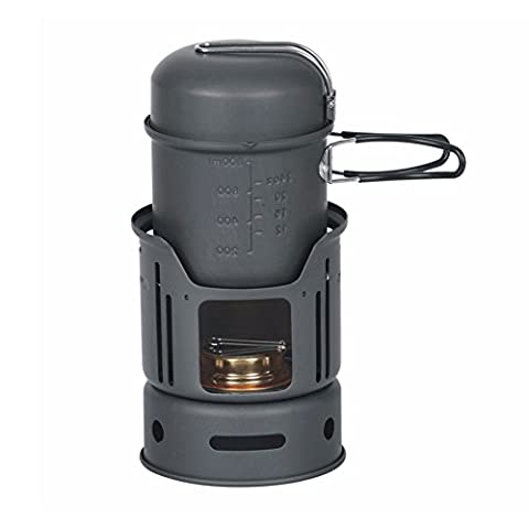 Ezyoutdoor Spirit Stove Alcohol Burners Cooking Stove Furnace Stove with Stand for Hiking Camping Picnic Bivouac Travel