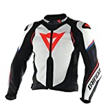 Dainese Original Super Speed D1 Leather Motorbike/Motorcycle Jacket Black & White 201533723 – 1 56 Schwarz & weiß
