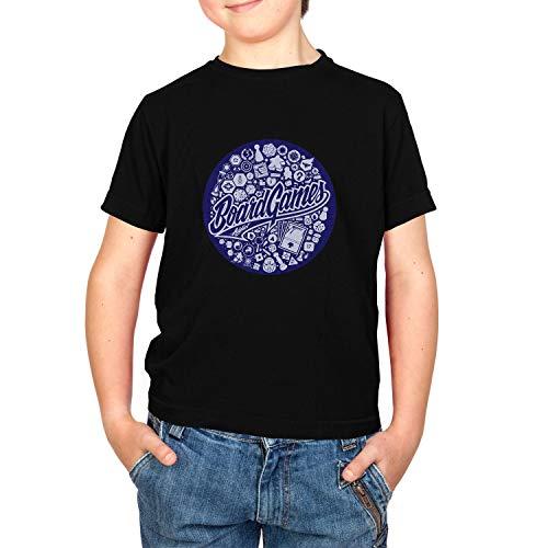 NERDO Kinder Board Games Addict 2 T-Shirt, Schwarz, M - Addict-schwarz-t-shirt