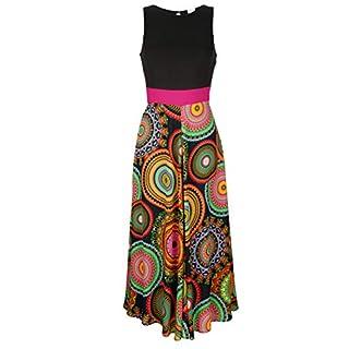 Alba Moda Damen Kleid schwarz-bunt