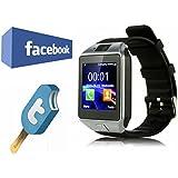 VOSMEP Reloj Inteligente Smart Watch Bluetooth 3.0 Teléfono Inteligente Pulsera Pantalla Cámara Táctil para Android Samsung HTC LG Huawei Xiaomi Reloj Deportivo SIM/TF Negro SM1