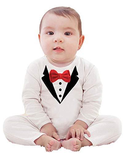 Inception pro infinite Weiß - 4-9 Monate - Größe 70 - Kostüm - Overall - Strampelanzug - Kind - Kleinkind - Neugeborenes - Herr - Strampler - Lange Ärmel - Fliege - Besondere Anlässe - Cross-Dressing (Herren Strampelanzug Kostüm)