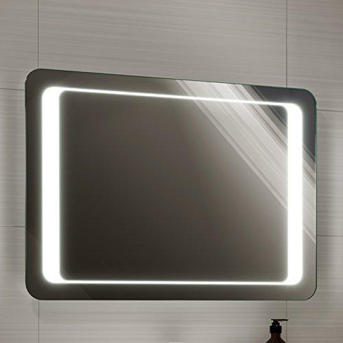 Soak Espejo de baño de 700 x 500mm con luz led, sensor de encendido y sistema antivaho