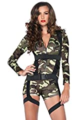 Idea Regalo - Leg Avenue 85.292 - Andare Insieme Commando Costume, 2 Pezzi, Taglia M, Camo