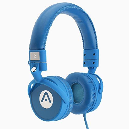 Audiomate A7stereo Bass cuffie con microfono, colore: Ciano