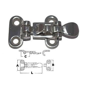Fermeture inox 316 Sauterelle 75x37mm