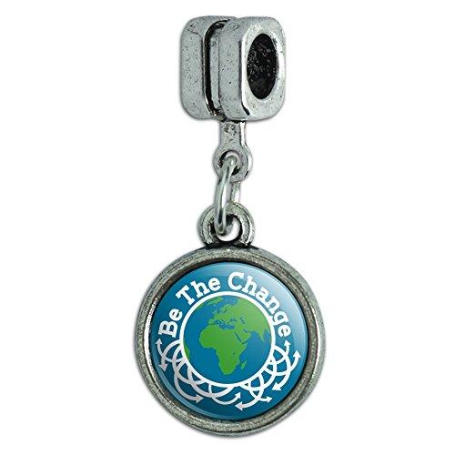 Be The Change Earth Inspirational Italian European Style Bracelet Charm Bead