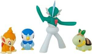 Bandai - 85050 - Pokemon - Figurines Mega Collection 5 cm - Gallade + Piplup, Turtwig et Chimchar