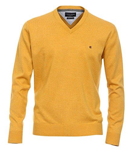 Casa Moda - Herren Pullover mit V-Ausschnitt in verschiedenen Farben (004130) Gelb (530)