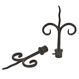 2 x Acrimo Double Hook Curtain Finials - 19mm