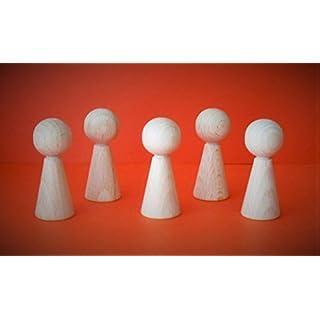 G&S 20 Stück Halmakegel  Eleganca-Plus  aus Holz 50 x 20 mm, Natur