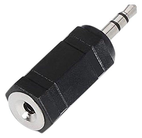 NanoCable 10.27.0002 - Adaptador de audio estéreo mini-Jack a Jack, JACK 3.5/M-JACK 2.5/H, hembra-macho, negro