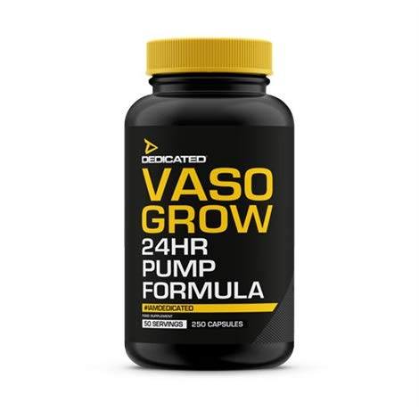 Dedicated Nutrition Vaso-Grow Pump Booster Pre-Workout Booster Bodybuilding 250 Kapseln (Beta-maschine)