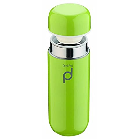 Pioneer Vacuum Insulated Leak Proof Drinkpod Capsule Flask 6 Hours Hot 24 Hours Cold, Green, 200 ml