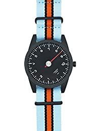 Nato Uhrenarmband in hellblau und orange