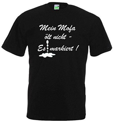 Moped T-Shirt | Mein Mofa ölt nicht - es markiert! Schwarz