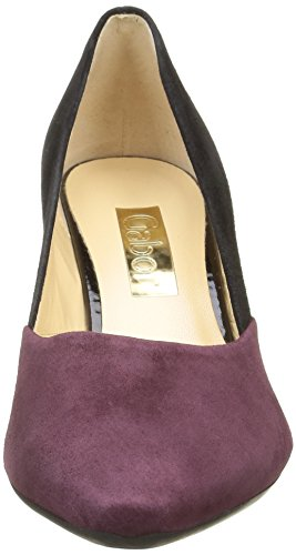 Gabor Basic, Escarpins Femme Multicolore (Schwarz/New Merlot 35)