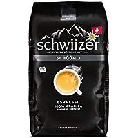 Schwiizer Schüümli Espresso Ganze Kaffeebohnen (1kg, Stärkegrad 4/5, Premium Arabica) 1er Pack x 1kg