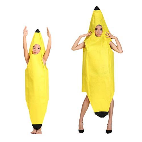 Bogeger Bananen Kostüm, Halloween Lustige Neuheit Rollenspiel Kleidung Party, Karneval, Halloween, Geburtstag, Bühnenkostüm für Kinder